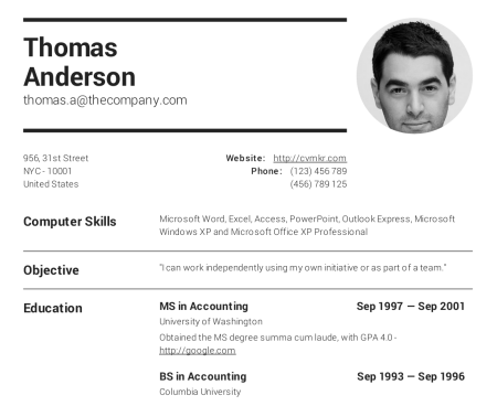 Create professional resumes online for free cv creator cv maker a wide range of templates to choose from yelopaper Images