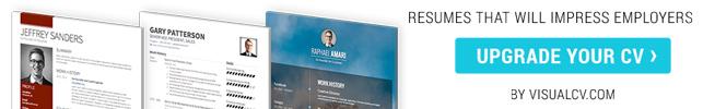 VisualCV: Professional resume builder and online portfolios